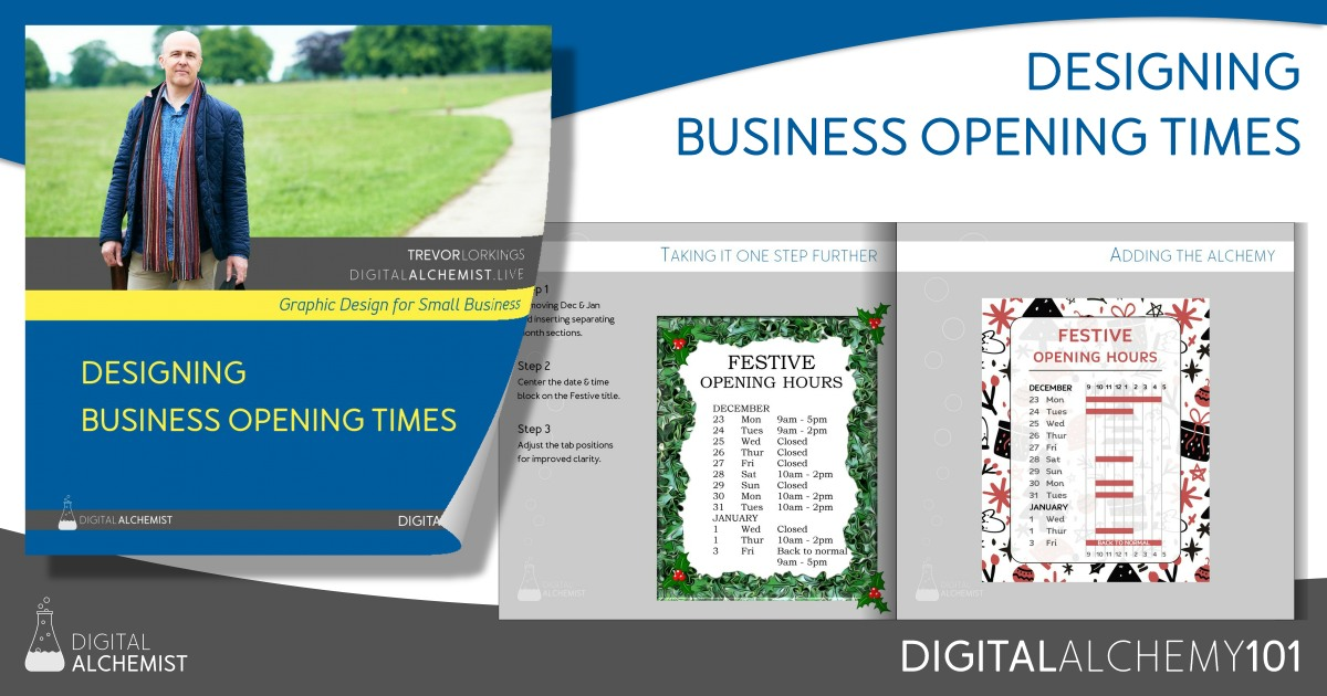 Digital Alchemy 101 - designing business opening times