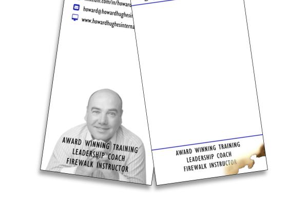 Howard Hughes International  creative business card design - Rutland Studio