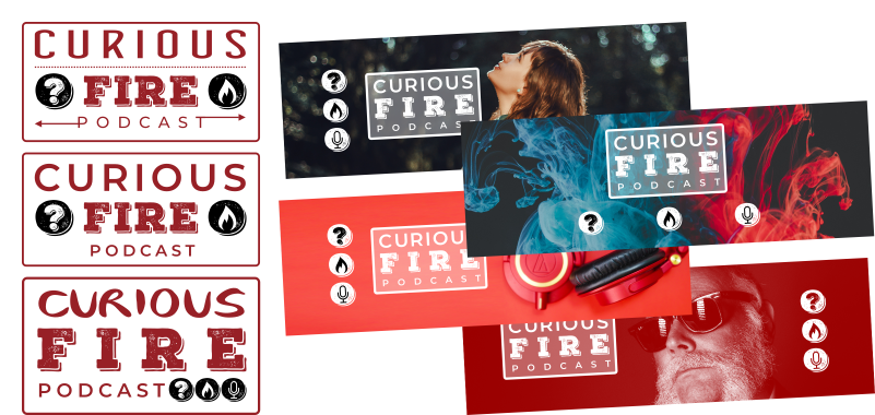 Creative Brand design for Oakham Rutland based Podcast channel - CuriousFire