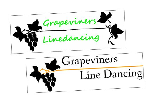 Grapvine Line Dancing  logo makeover and design work at Rutland design studio.