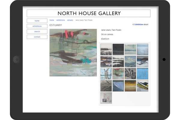 North House Gallery  website designed on Oakham Rutland for an Art Gallery