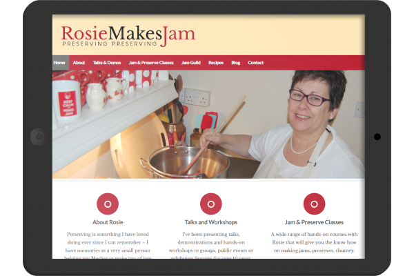 Rosie Makes Jam  wordpress web site develpoment for Oakahm Rutland small business